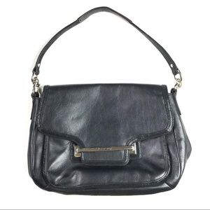 Coach Taylor Black Leather Shoulder Bag